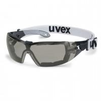 Защитные очки UVEX Феос гард, солнцезащитный фильтр, черный/серый