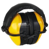 Наушники МАХ 600, складные, мягкое оголовье, 29 дБ, желтые