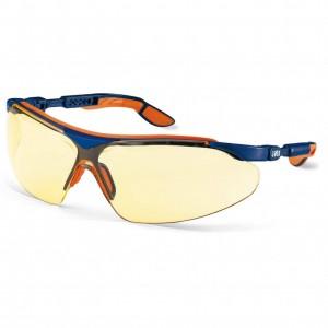 Защитные очки UVEX Ай-во, янтарная линза, синий/оранжевый