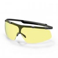 Защитные очки UVEX Супер джи, янтарная линза, черный