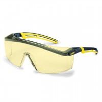 Защитные очки UVEX Астроспек 2.0, янтарная линза, черный/желтый