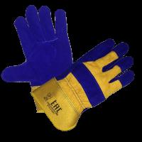 Перчатки Сапфир - спилковые, комбинированные