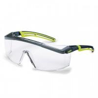Защитные очки UVEX Астроспек 2.0, черный/лайм
