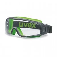 Защитные очки UVEX Ю-Соник, серый/лайм