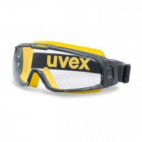 Защитные очки UVEX Ю-Соник, серый/желтый