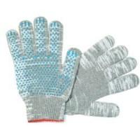 Перчатки ХБ двойные ПВХ точка Зима