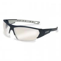Защитные очки UVEX Ай-воркс, зеркально-серебристая линза, черный/серый