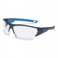 Защитные очки UVEX Ай-воркс, черный/синий