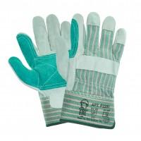 Перчатки ДОКЕР - спилковые, комбинированные, усиленные