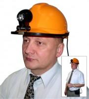 """Фонарик аккумуляторный светодиодный""""Экотон-18"""" на каске модели СОМЗ-55 (с зарядным устройством)"""