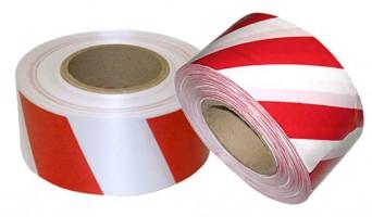 Лента оградительная ЛО-250 красно-белая