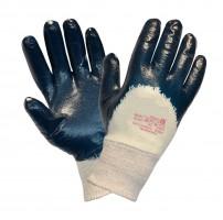 Перчатки нитриловые манжет резинка неполный облив