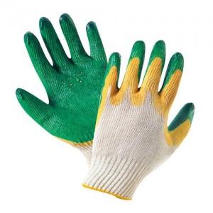 Перчатки хб с двойным латексным обливом и п/ш вкладышем